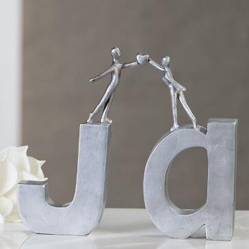 Hochzeitsgeschenk Deko-Schriftzug Ja