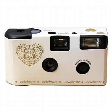 """Hochzeitskamera """"Ornamente"""", creme-gold"""