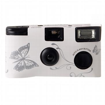 """Hochzeitskamera """"Schmetterling"""", silber"""