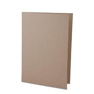 Sandfarbene Hochzeitskarte aus Kraftpapier