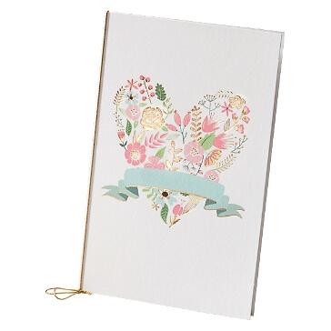 """Hochzeitskarte """"Anna"""" mit Blüten und Herzmotiv"""