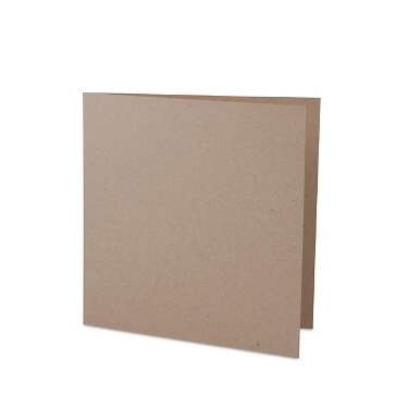Sandfarbene Hochzeitskarte zum selbst gestalten