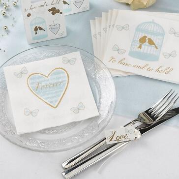 Hochzeitsservietten Forever