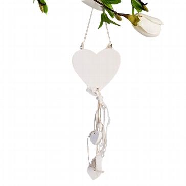 """Holzdeko """"Weiße Herzen"""" für die Hochzeit"""