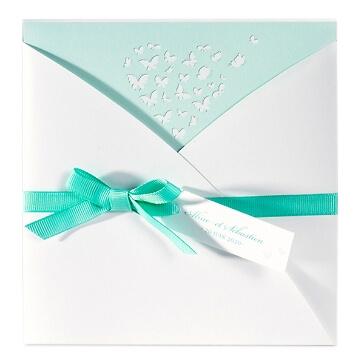 Einladungskarte Jelena mit Schmetterlingen