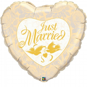 "Jumbo-Folienballon ""Just Married"", gold"