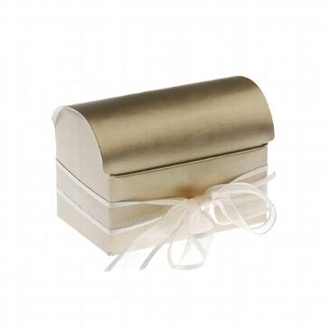 Kartonage Truhe gold mini - Für Hochzeitsgäste