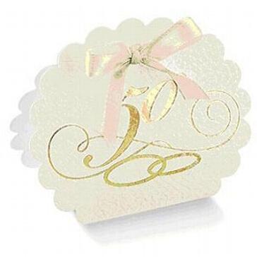 Kartonage Wölkchen goldene Hochzeit