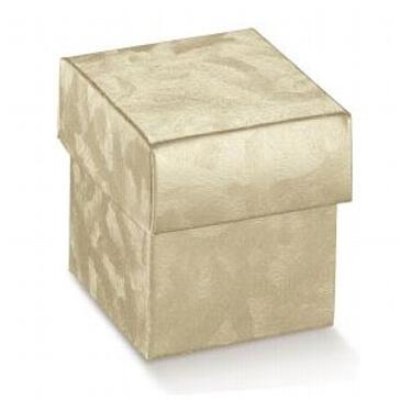 Kartonage Würfel gold - für die Hochzeitsfeier
