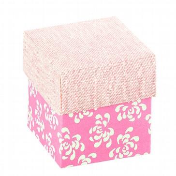 Kartonage Würfel rosa/weiß