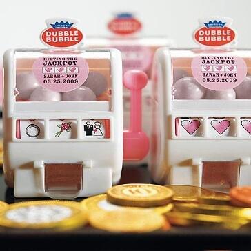 Kaugummi-Spender, Slotmaschine für Gastgeschenke