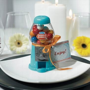 Kaugummi-Spender blau - Gastgeschenk zur Hochzeit