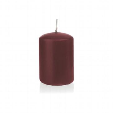 Kerze Farbenfroh klein, bordeaux