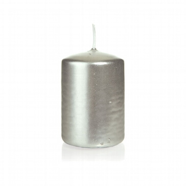 Kerze Kreativ, klein, silber
