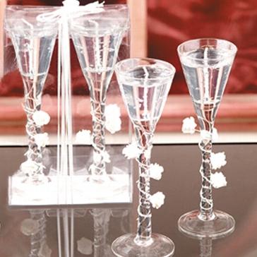 "Kerzenglas-Set ""Rosen"""
