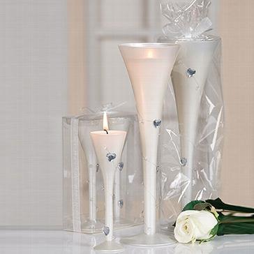 """Kerzenglas-Set """"Herzen"""""""