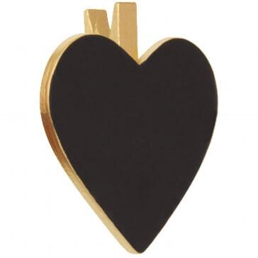 Tischdeko Klammer Herz in Gold