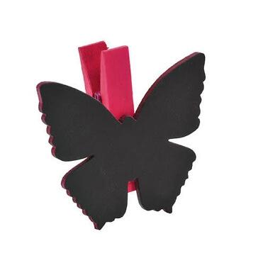 Klammer-Schmetterling-fuchsia