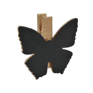 Klammer-Schmetterling-gold