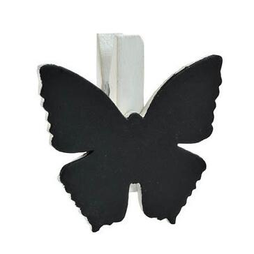 Klammer-Schmetterling-weiss