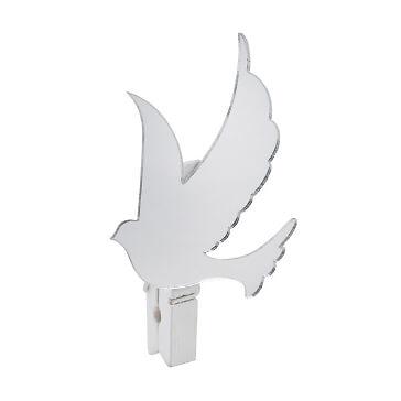 Süße Deko-klammer mit Tauben-Design - hübsche Deko-Klammer in weiß