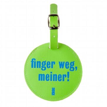 """Kofferanhänger """"Finger weg"""" aus Leder"""