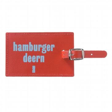 "Kofferanhänger ""Hamburger Deern"" aus Leder"