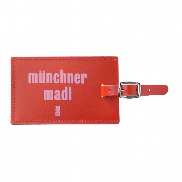 "Kofferanhänger ""Münchner Madl"" aus echtem Leder"