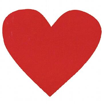 Hochzeitsdeko Konfetti Herz in Rot