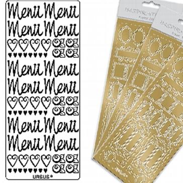 "Kreativ Sticker ""Menü"", groß, gold"