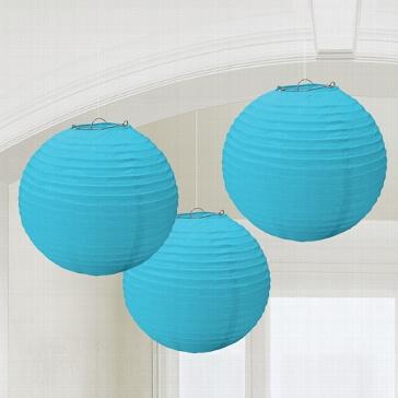 Lampions, rund, blau