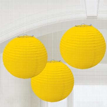 Lampions in Gelb