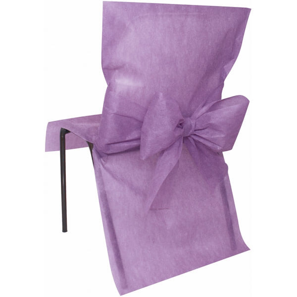 10 stuhlhussen vlies flieder. Black Bedroom Furniture Sets. Home Design Ideas