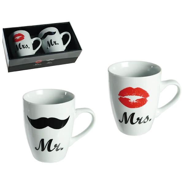 Tassenset Mr Mrs Als Hochzeitsgeschenk Weddix De