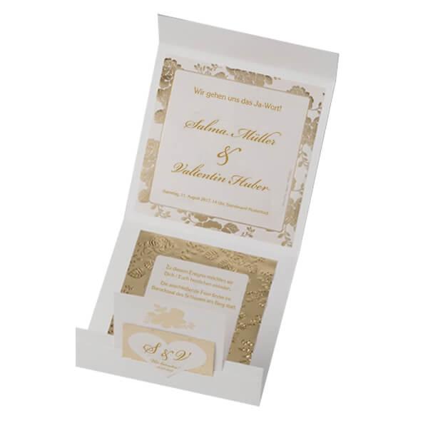 einladung zur hochzeit salma dezente karte mit. Black Bedroom Furniture Sets. Home Design Ideas