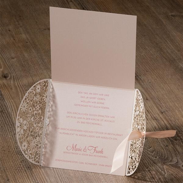Hochzeitseinladung Rose In Zartem Pastell Ton Weddix De