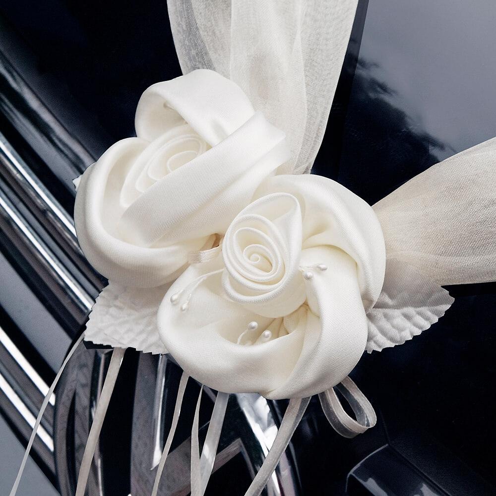 Autodeko Hochzeit Girlande Mit Rosen 2 St Creme Weddix De