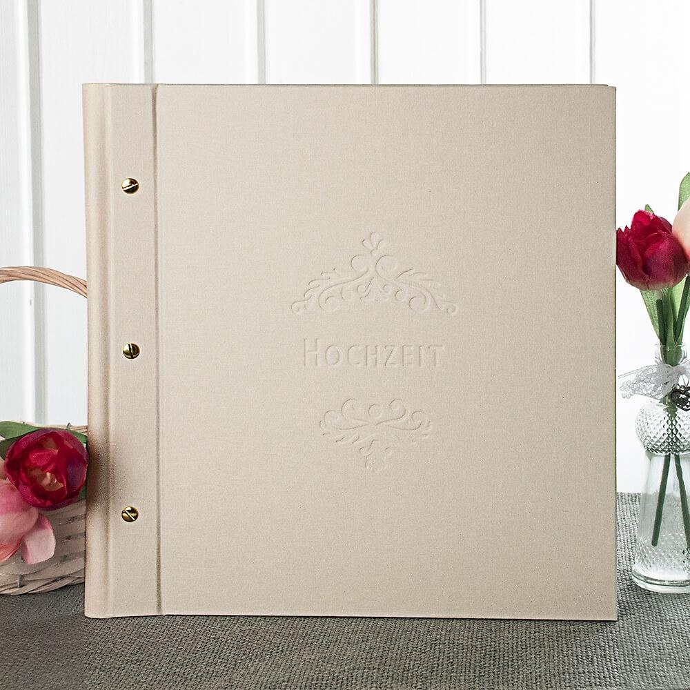 Große Elfenbeinfarbene Personalisiert Hochzeit 100 Foto Album 50 Seiten