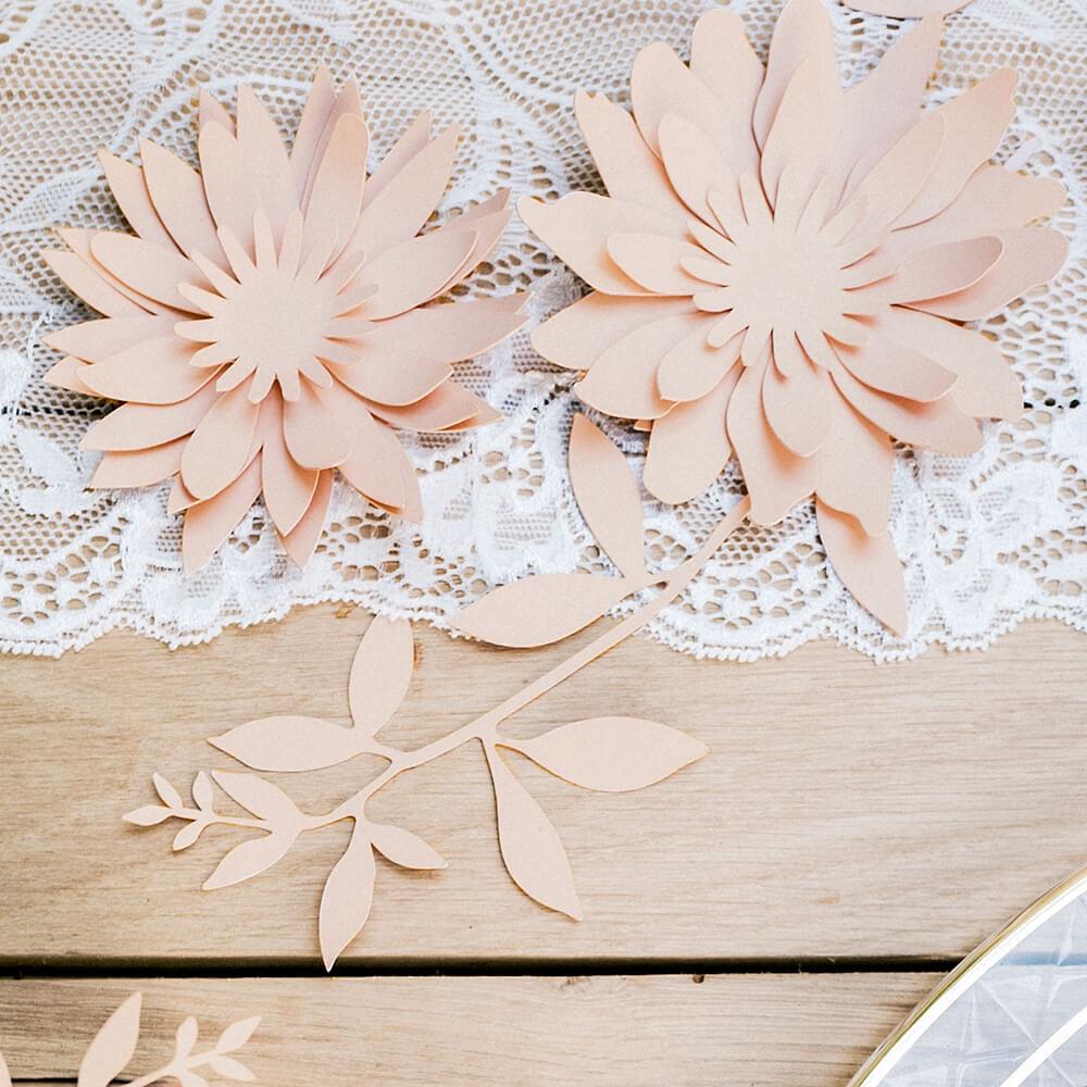 Tischdeko Hochzeit Ranken Rosa 9 St Weddix De