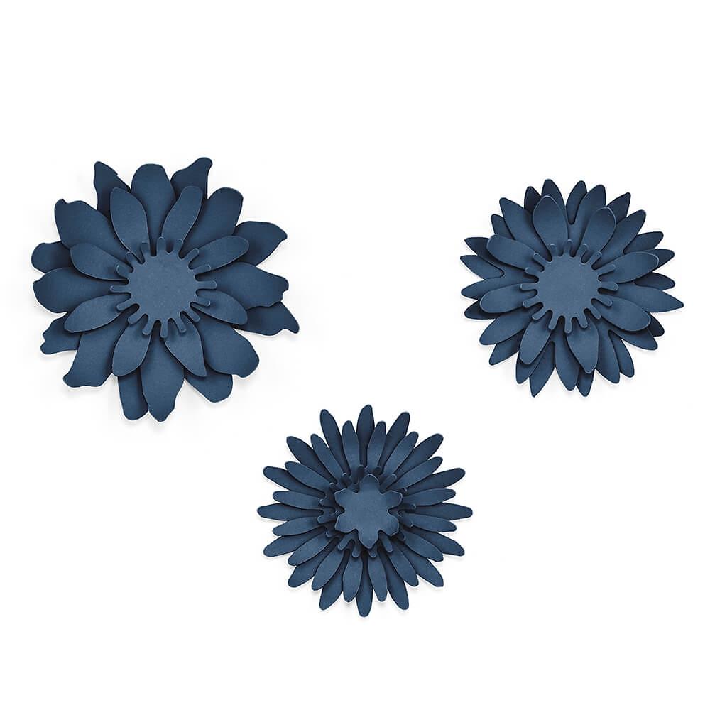 Tischdeko Hochzeit Blumen Dunkelblau 3 St Weddix De