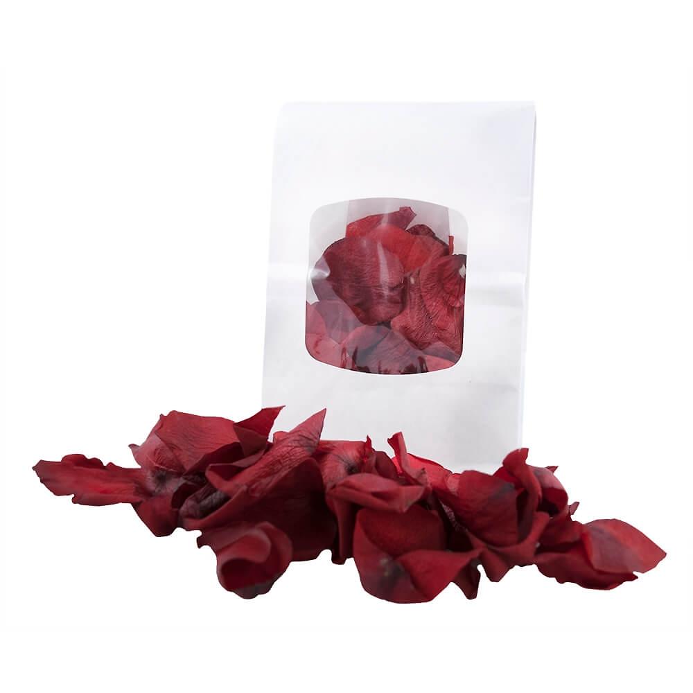 Tischdekoration für Ihre Hochzeit - Echte Rosenblätter - weddix.de