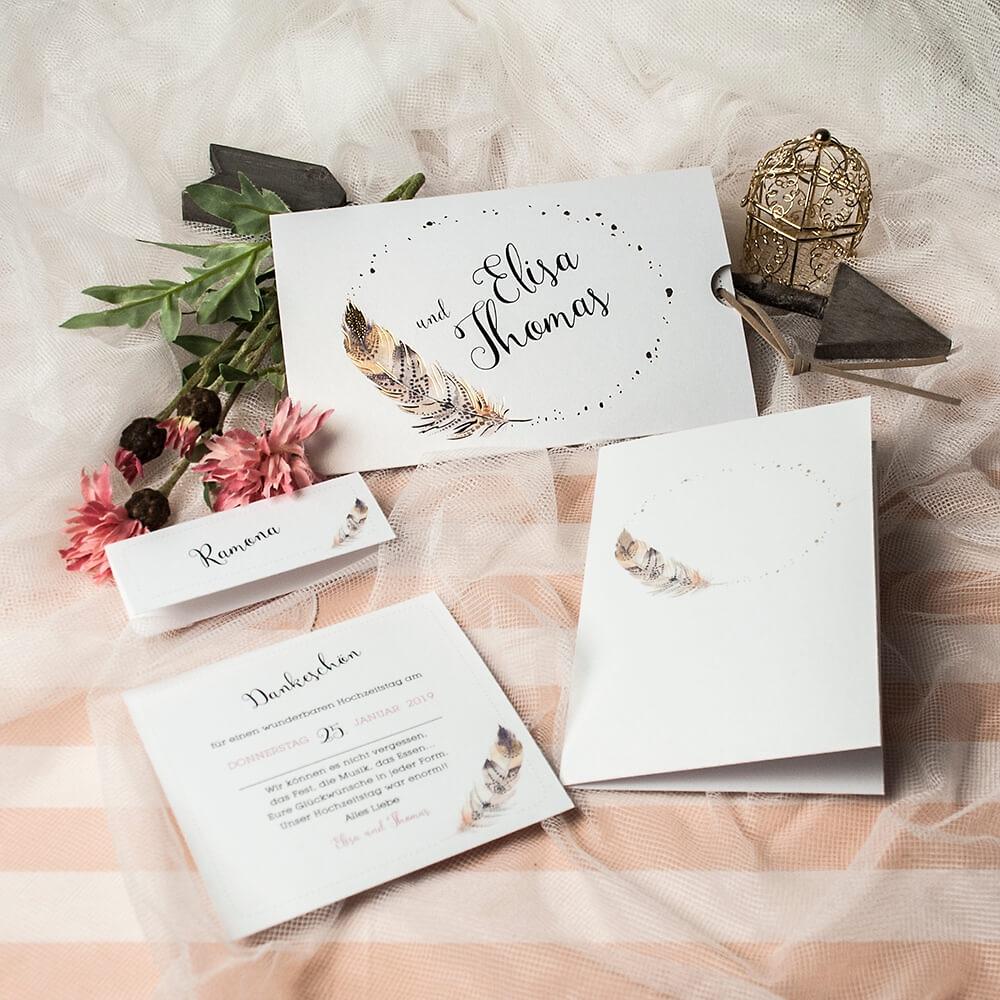 Einladungskarte Hochzeit \