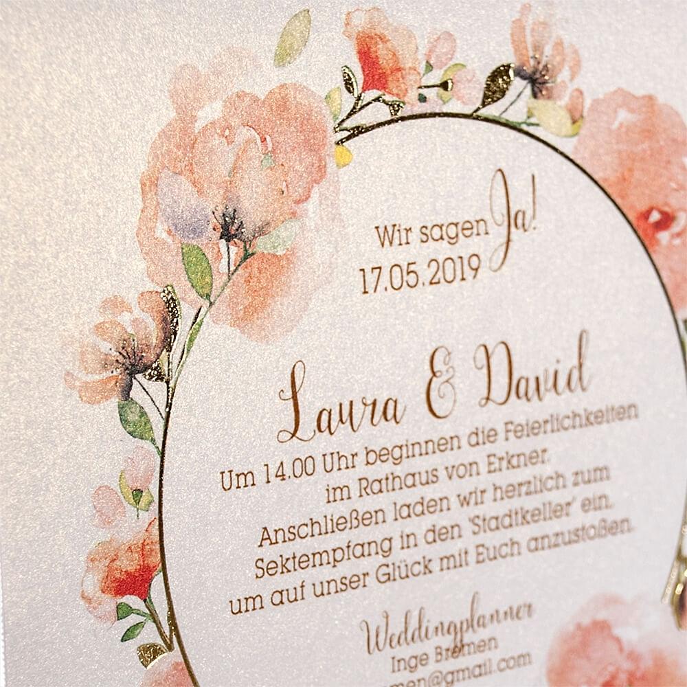 Hochzeitseinladung Irene - weddix.de