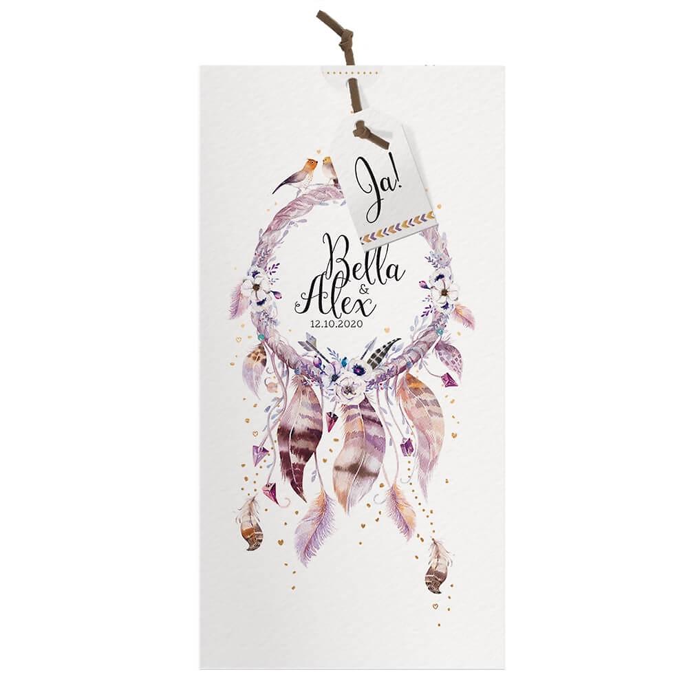 Einladungskarte Hochzeit Bella Im Boho Stil