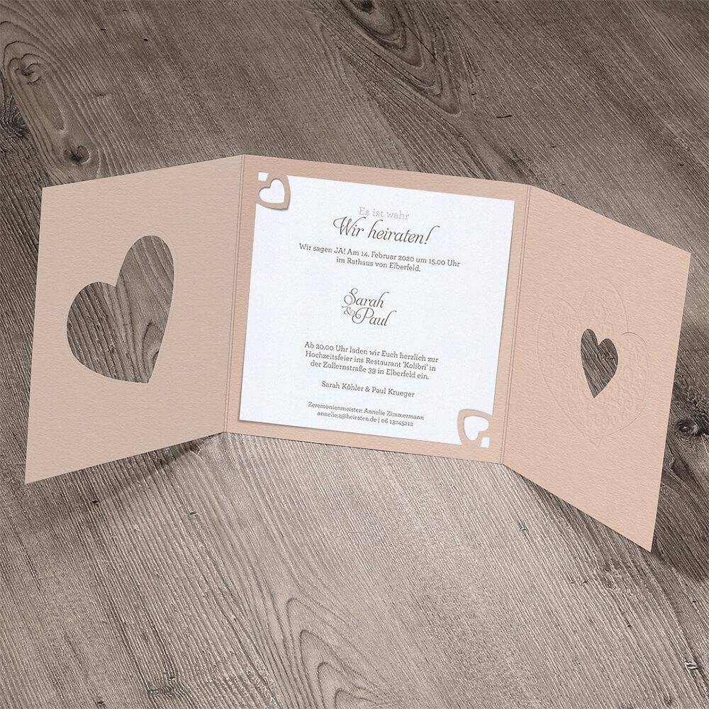 Hochzeitseinladung Fiona Innenansicht