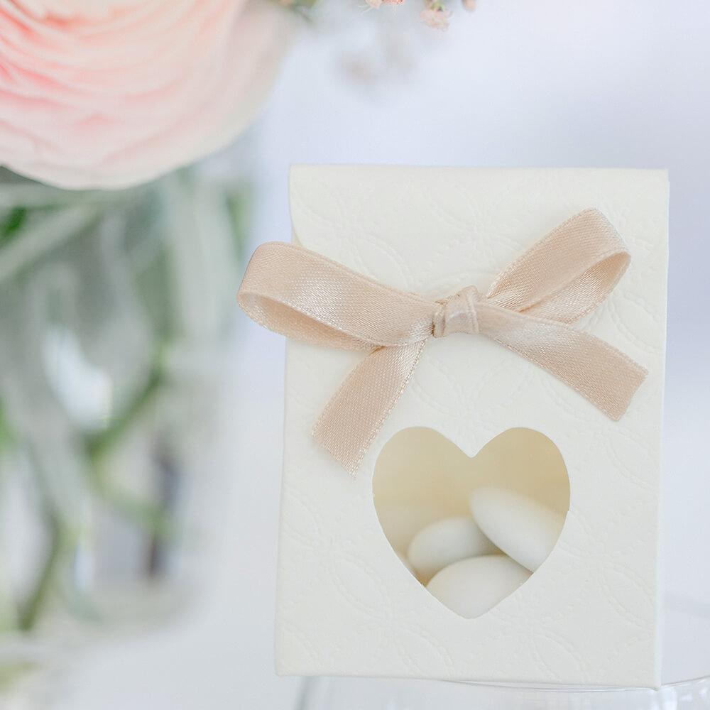 Gastgeschenktüte Herz Weiß