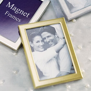 gastgeschenk und tischkarten magnet bilderrahmen gold. Black Bedroom Furniture Sets. Home Design Ideas