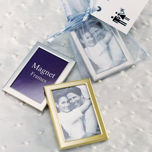 Tischkarten Und Gastgeschenk Magnet Bilderrahmen Silber