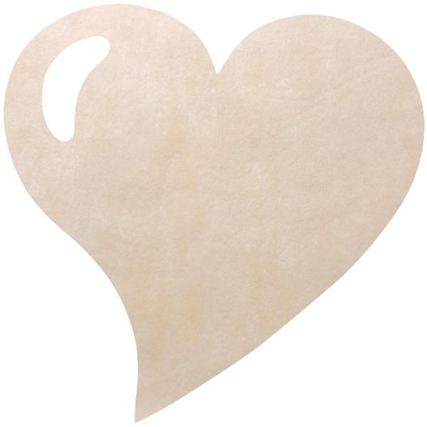 Platzsets herz creme tischdekoration und romantik for Herz tischdeko