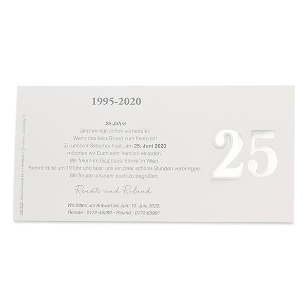 Einladungskarte Katja Jubiläum 25 Jahre